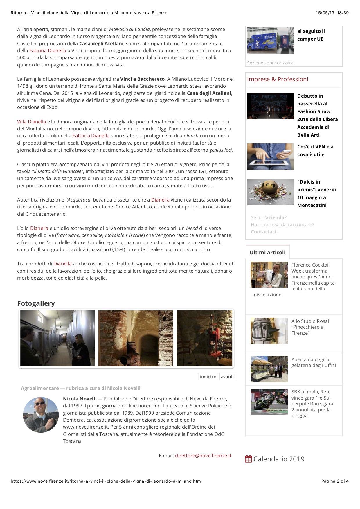 Calendario Imbottigliamento 2020.About Us Dianella Wine